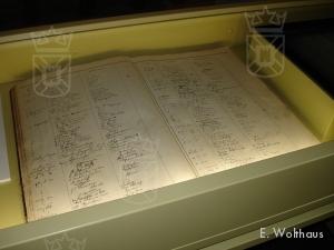 Het originele vreemdelingenboek staat nu onder glas tentoongesteld.