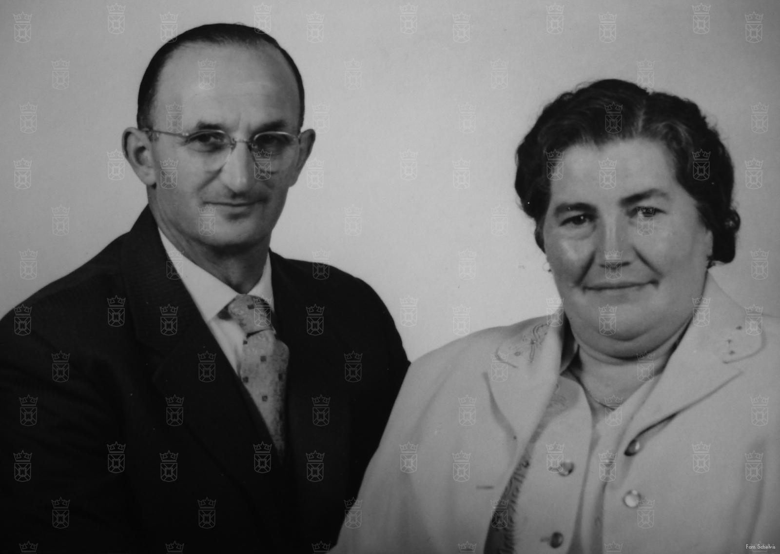 Arie en Bertha Schelvis na de oorlog.
