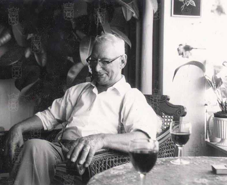 Sluiswachter Martinus Erkelens na de oorlog.