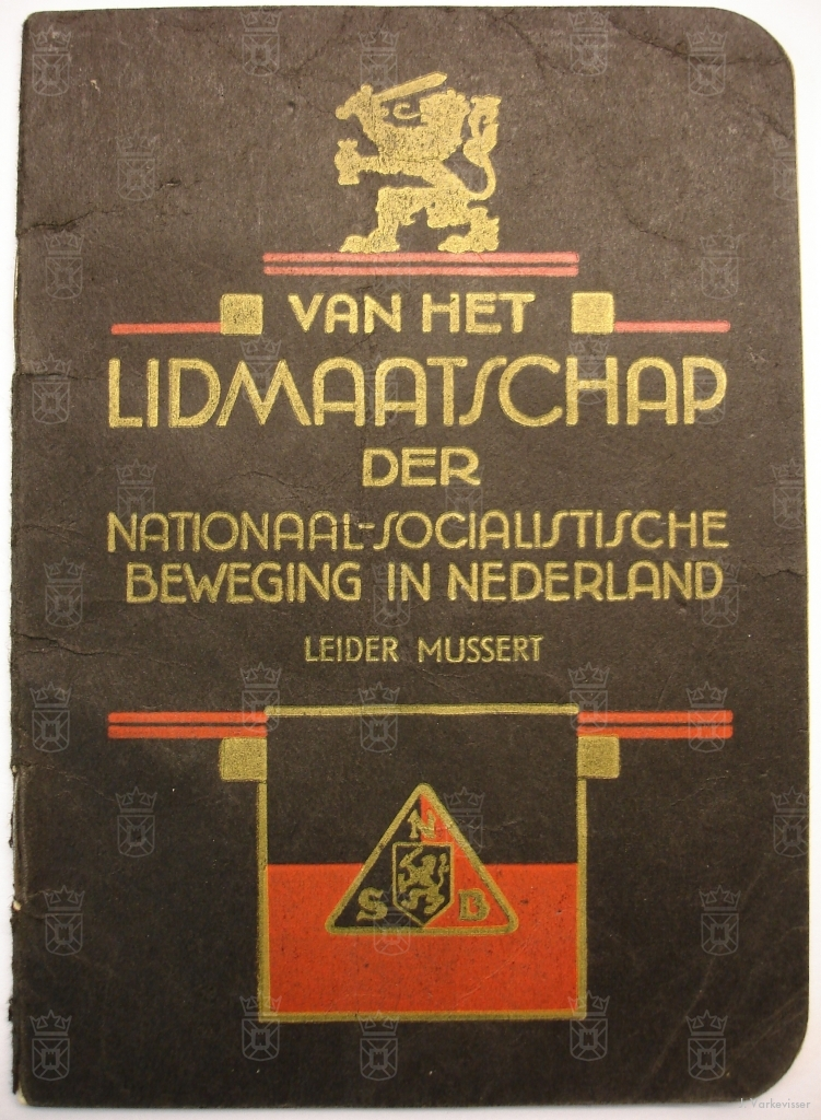 Een NSB lidmaatschapsboekje.