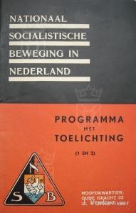 Een NSB partijprogrammaboekje uit 1931.