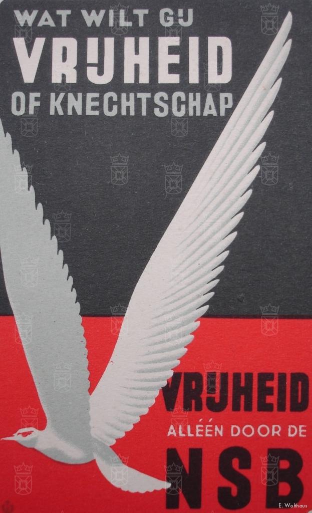 Een NSB propagandakaart.