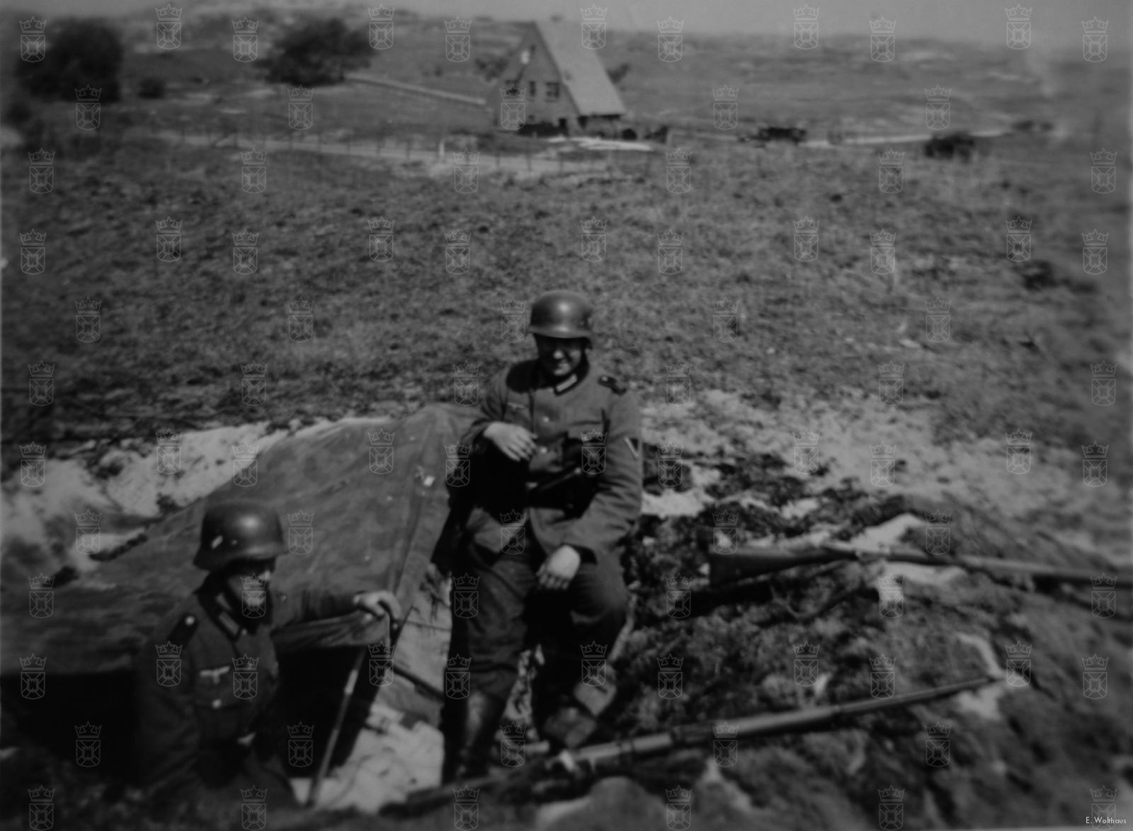 Een Duitse mitrailleurstelling in de lijn Duinrell – Albertushof - Rijksdorp