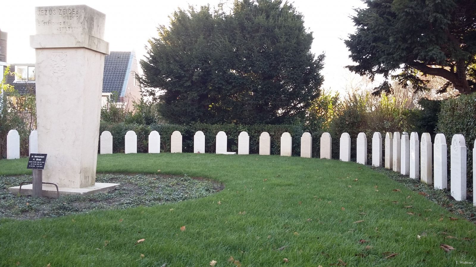 Het Nederlandse eregraf in Valkenburg.