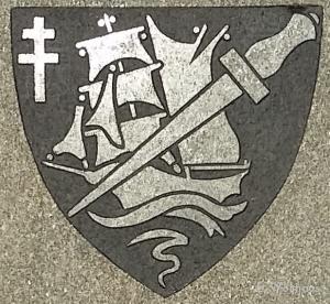 Het wapen van het Franse 1er. BFMC waartoe Trepel en zijn mannen behoorden.